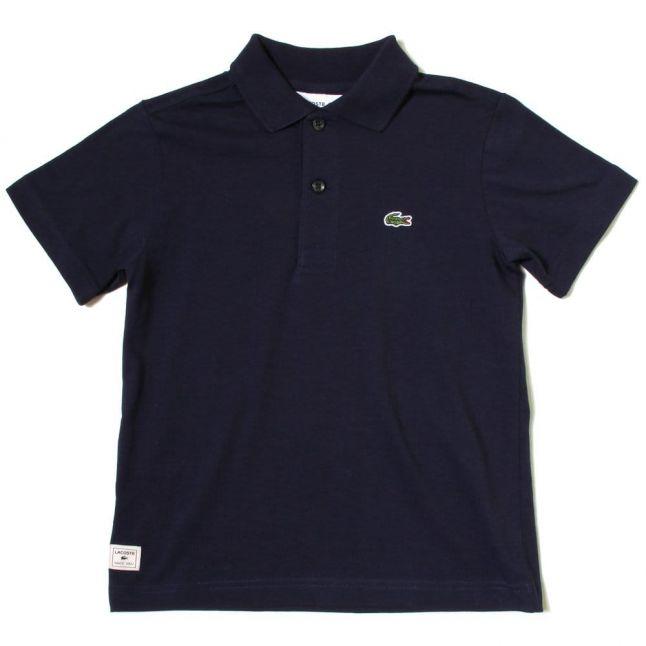 Boys Navy Jersey S/s Polo Shirt
