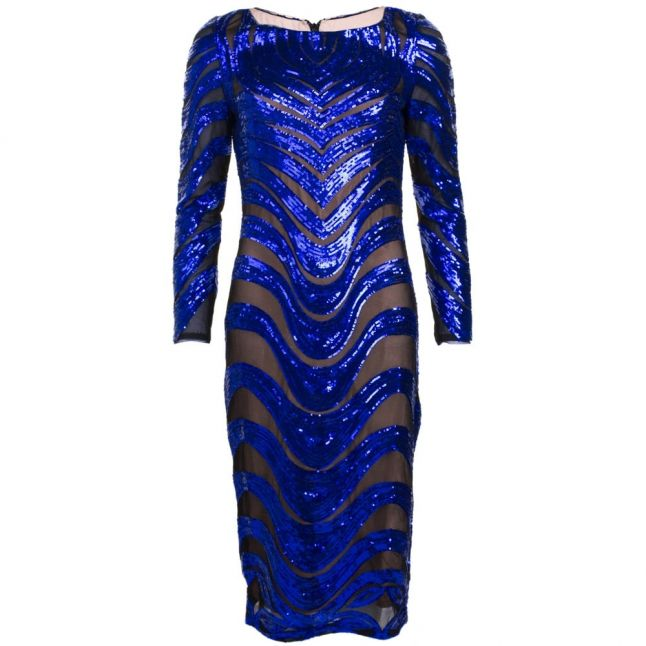 Womens Sax Blue Kim Sequin Dress