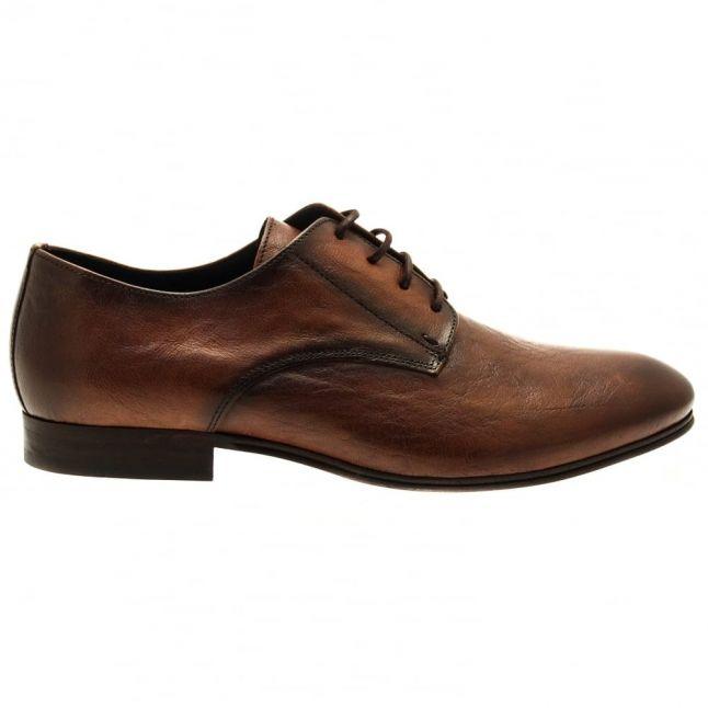 H By Hudson Mens Tan Champlain Derby Shoes