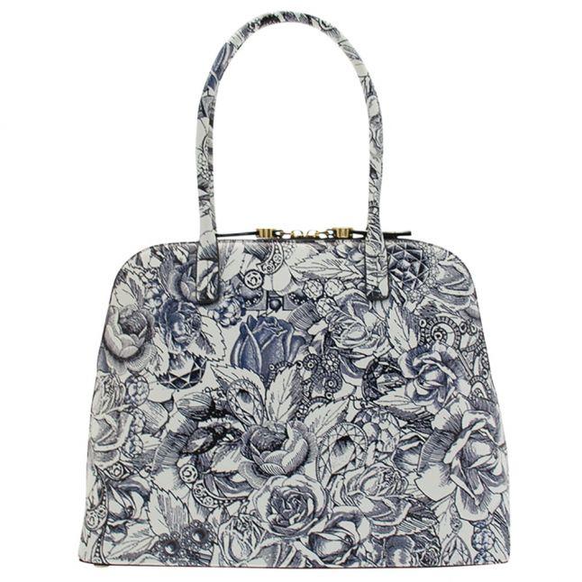 Womens Chalk & Navy Bobbi Mini Grain Bag