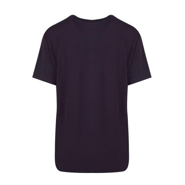 Womens Navy Debra Decadance Woven S/s T Shirt
