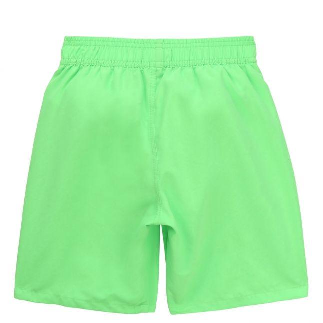 Boys Green Branded Leg Swim Shorts