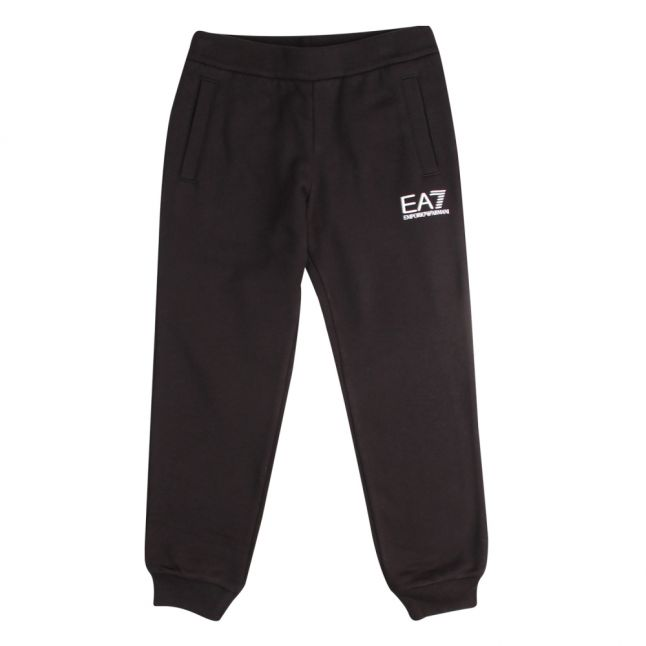 Boys Black Branded Sweat Pants