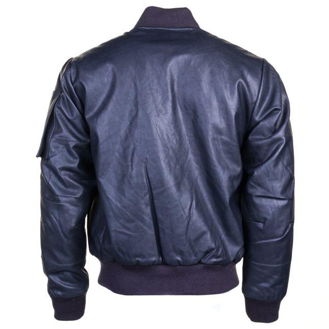 Mens Mazarine Blue Rackam G.P.L PU Jacket