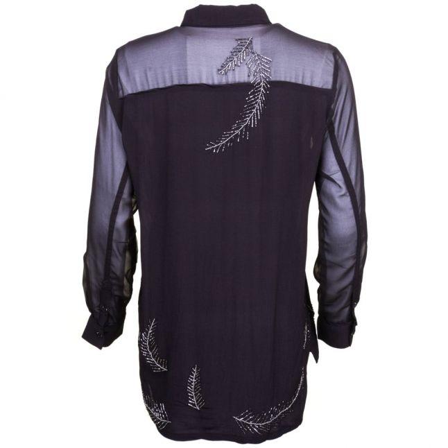 Womens Jet Black Significant L/s Shirt