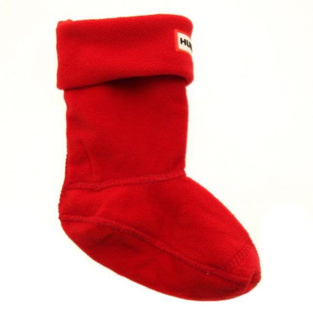 Kids Red Fleece Wellington Socks (4-6 - 3-5)