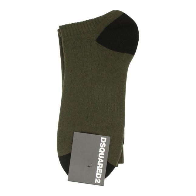Mens Military Green Icon Socks