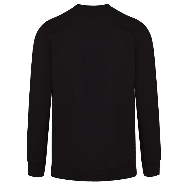 Mens Black Text Reversed Logo L/s T Shirt