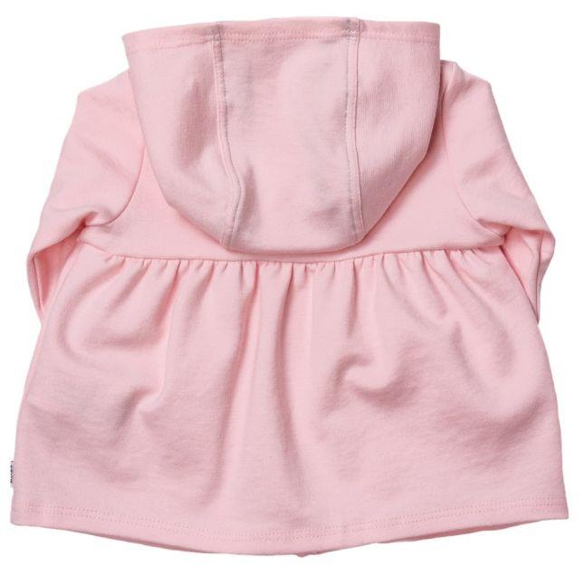 Baby Pink Hooded Zip Sweat Top