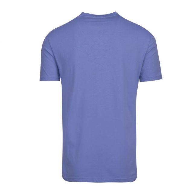 Mens Sky Blue Beach Chest Logo Slim Fit S/s T Shirt