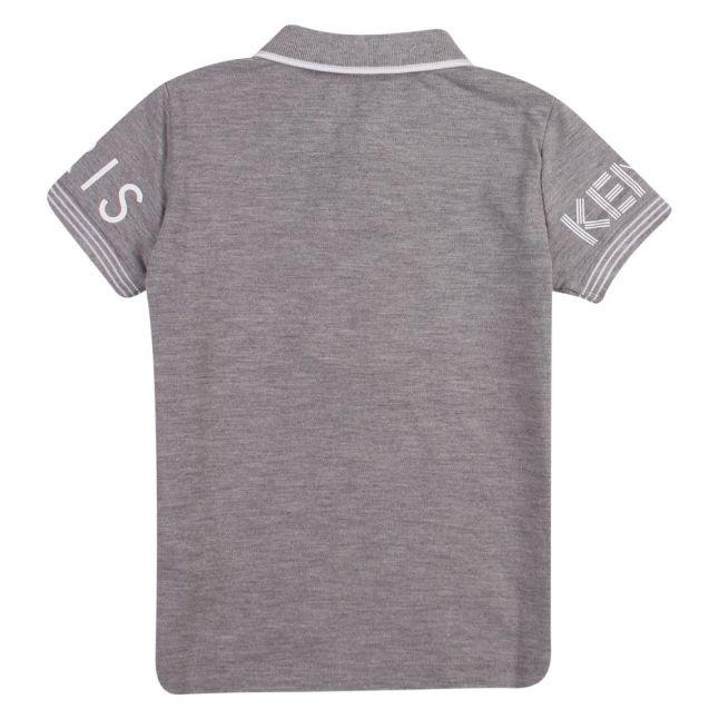 Junior Marl Grey Logo S/s Polo Shirt