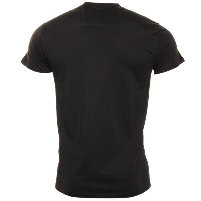Mens Black Chest Logo S/s Tee Shirt