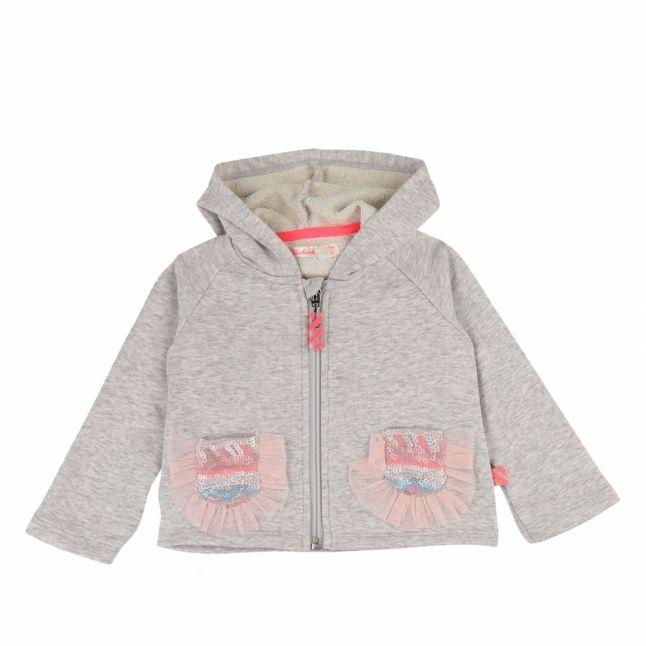 Baby Light Grey Marl Frill Pocket Tracksuit