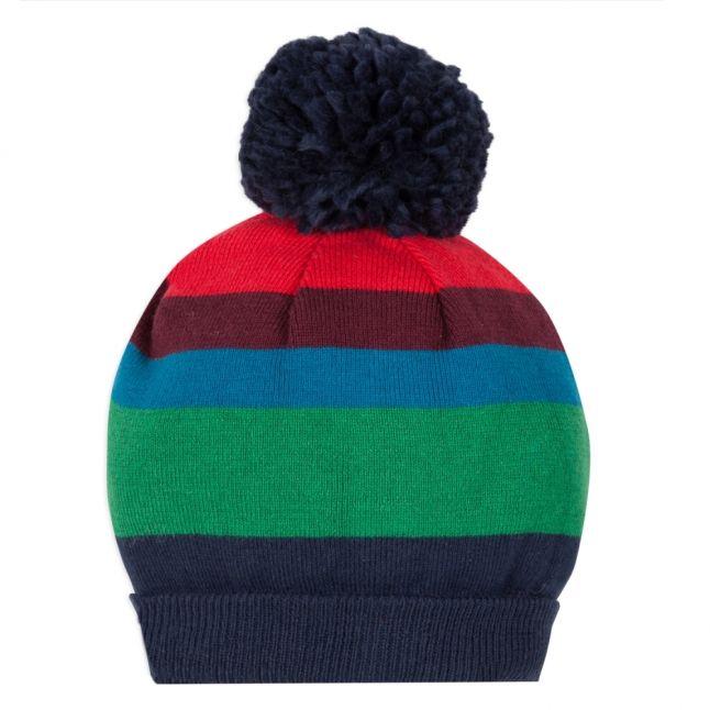 Boys Multicoloured Vaughn Stripe Beanie