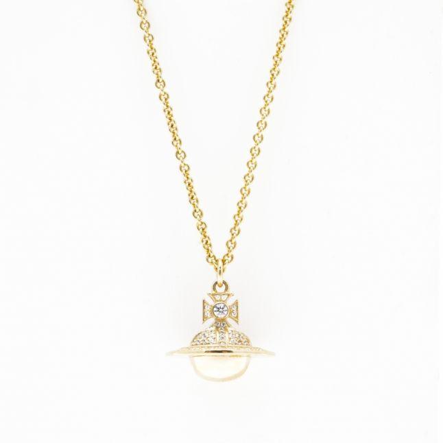 Womens Gold Darius Orb Pendant