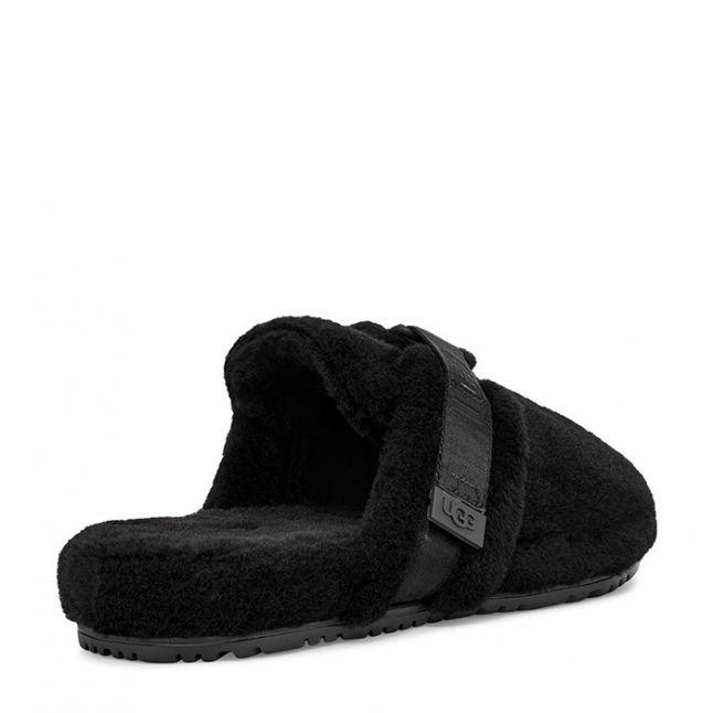 Mens Black TNL Fluff It Slippers