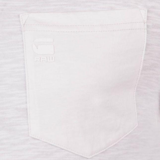 Mens White Classic Regular Pocket L/s Tee Shirt