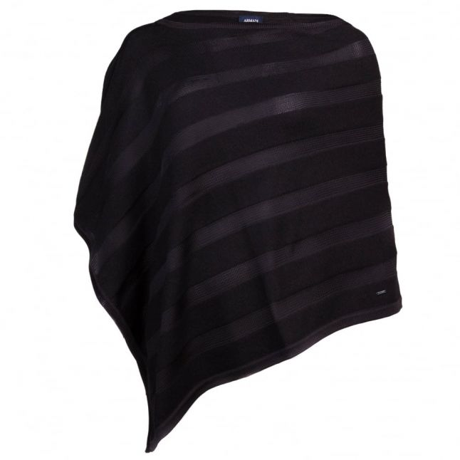 Womens Black Knitted Poncho