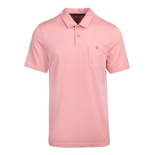 Mens Orange Hawka Polynosic S/s Polo Shirt