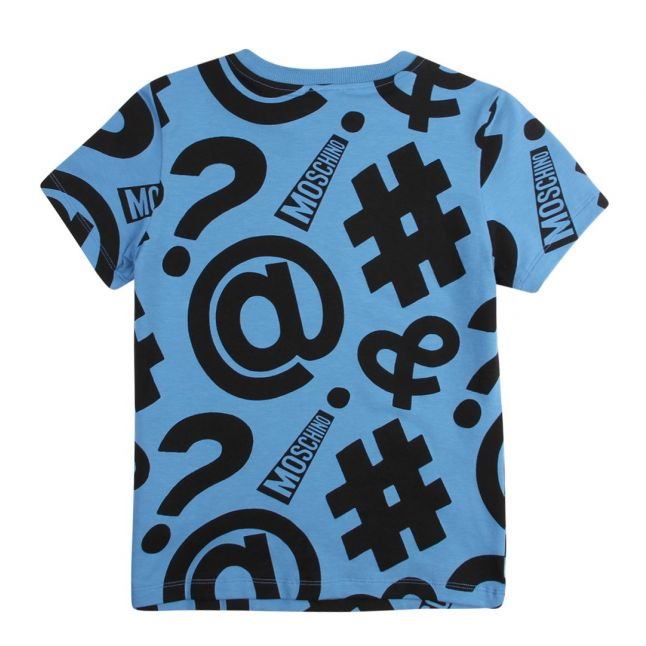 Boys Alaskan Blue Hashtag Print S/s T Shirt