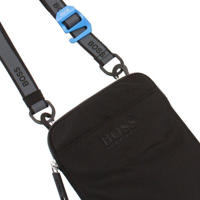 Mens Black Krone_S Zip Crossbody Bag