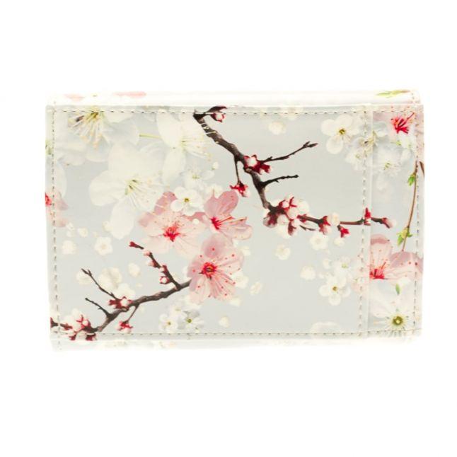 Womens Light Grey Kane Oriental Blossom Small Purse