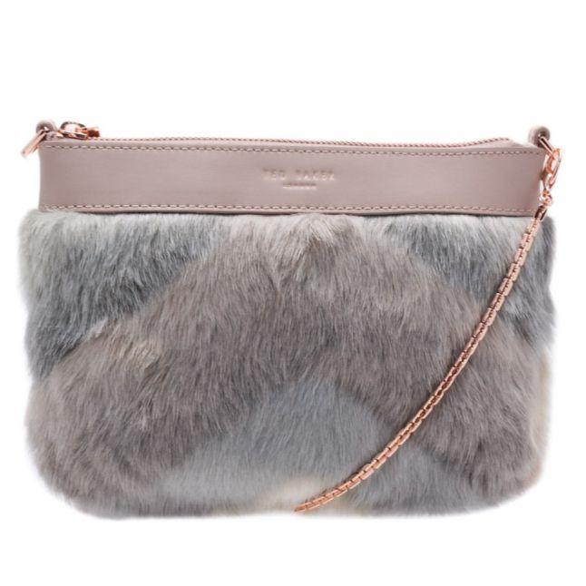 Womens Taupe Emmia Faux Fur Cross Body Bag