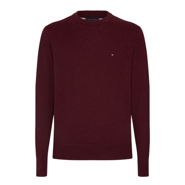 Mens Tawny Port Heather Cotton Cashmere Knitted Jumper