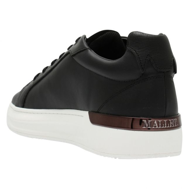 Mens Black GRFTR Leather Trainers