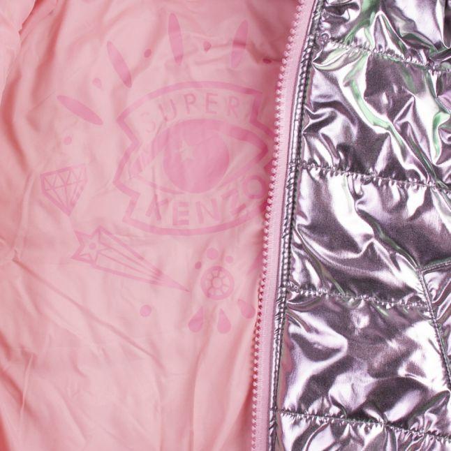 Junior Metallic Pink Ganoa Metallic Padded Jacket