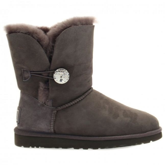 Womens Grey Bailey Button Bling Boots