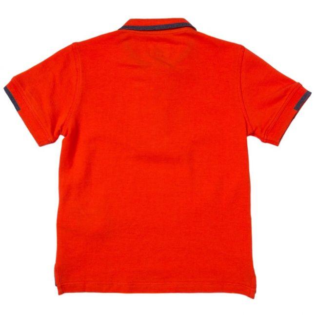 Boys Orange Small Logo S/s Polo Shirt