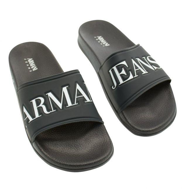 Mens Navy Slide Sandals