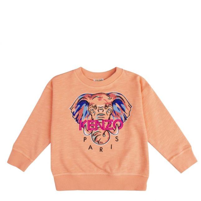 Girls Peach Jamela Elephant Sweat Top