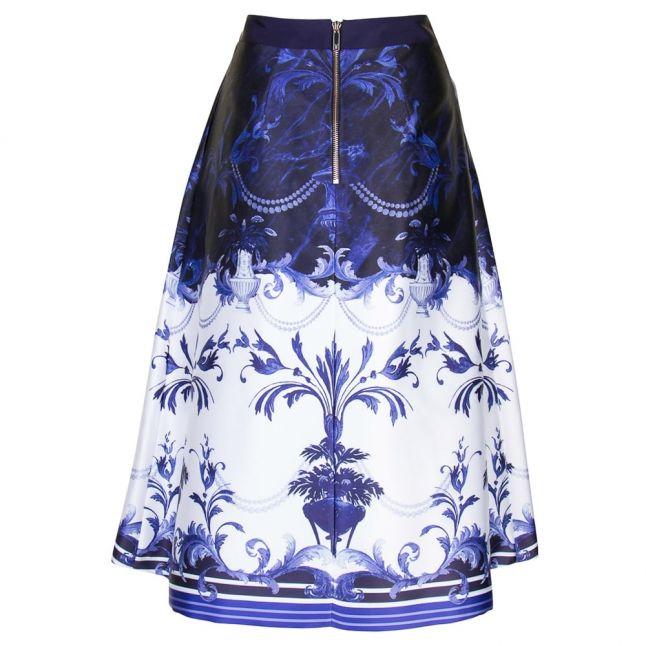 Womens Dark Blue Hunah Persian Blue Full Skirt