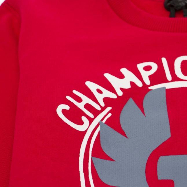 Boys Racing Red Riley Champion Crew Sweat Top