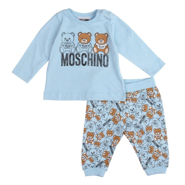 Moschino Baby Sky Blue Toy Top & Bottoms Set