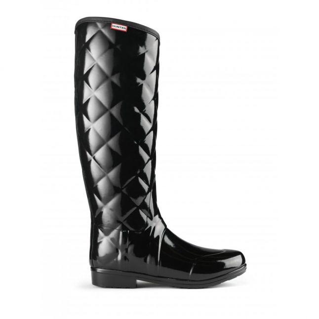Womens Black Sandhurst Savoy Quilted Wellington Boots