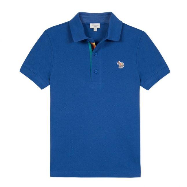 Boys Blue Ridley Zebra S/s Polo Shirt