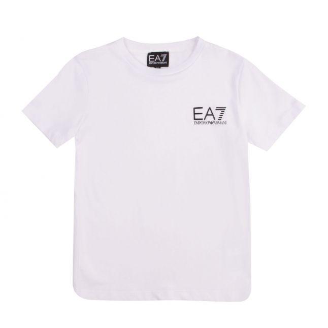 Boys White Basic Small Logo S/s T Shirt