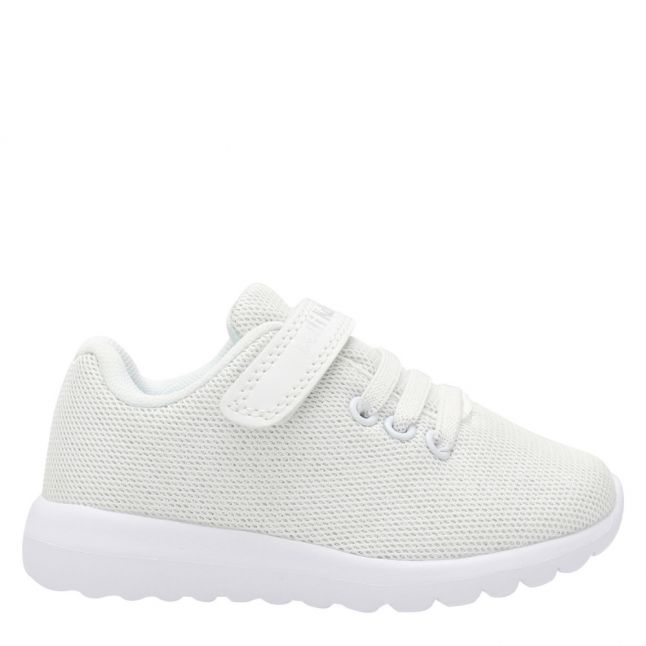 Girls White Glenda Trainers (25-35)