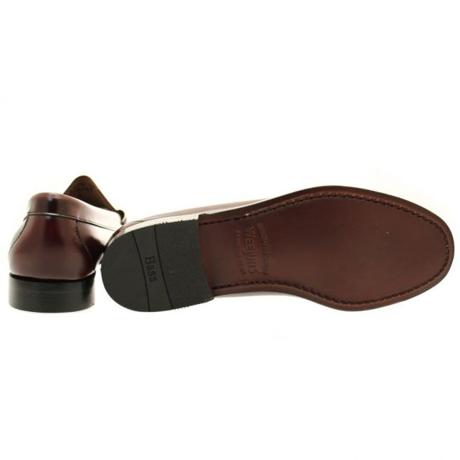 Mens Wine Weejuns Larson Penny Loafers