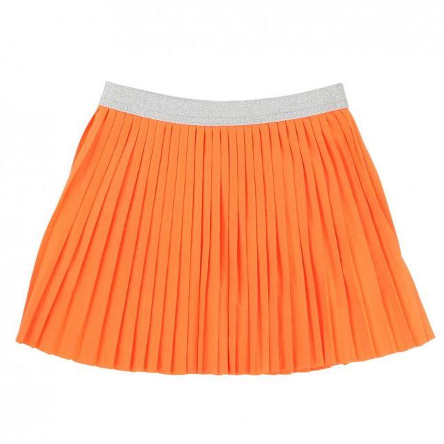 Girls Orange Pleated Skirt
