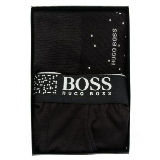 Mens Black Trunk & Socks Boxed Gift Set