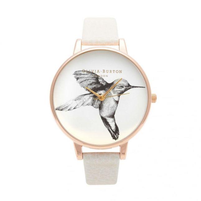 Womens Mink & Rose Gold Animal Motif Hummingbird Watch