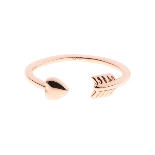 Womens Rose Gold Cassea Cupids Ring