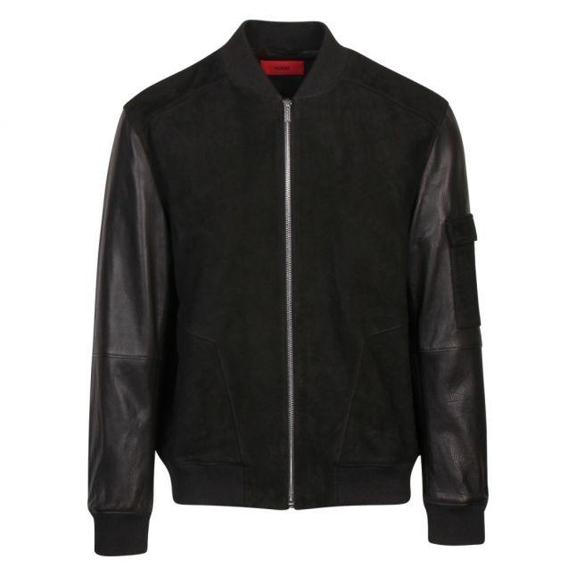 Mens Black Lunis Suede Jacket