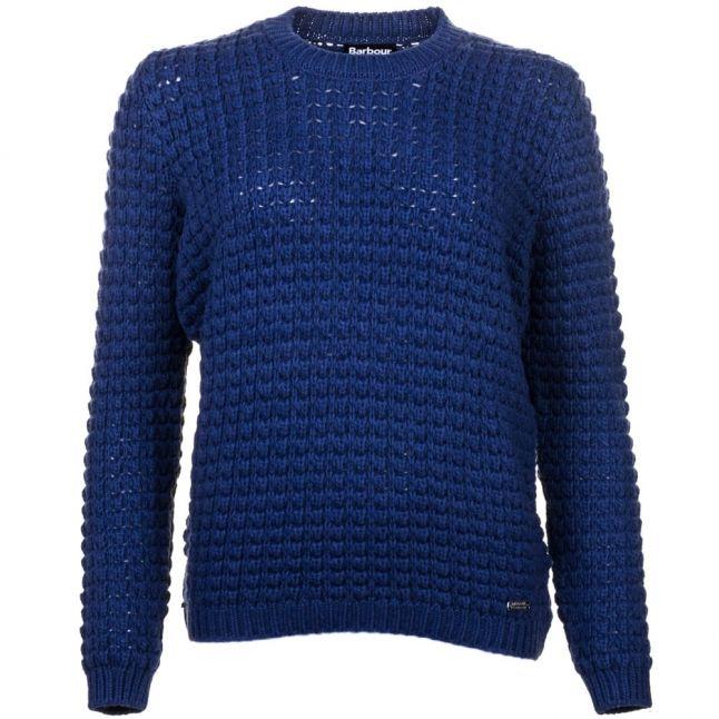 Womens Biker Blue Enduro Knitted Jumper
