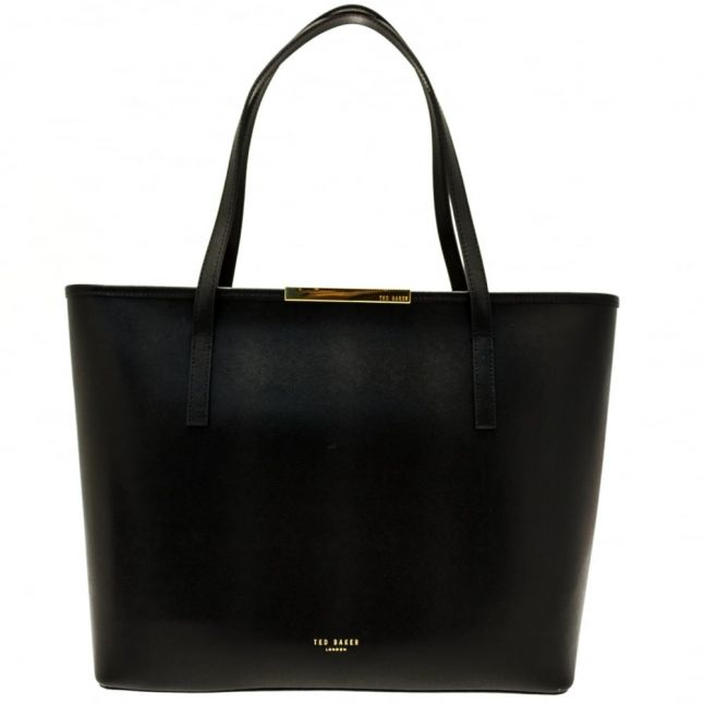 Womens Black Kaci Metal Bar Large Shopper Bag & Purse