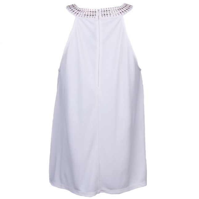 Womens Classic Cream Diamond Drape Top